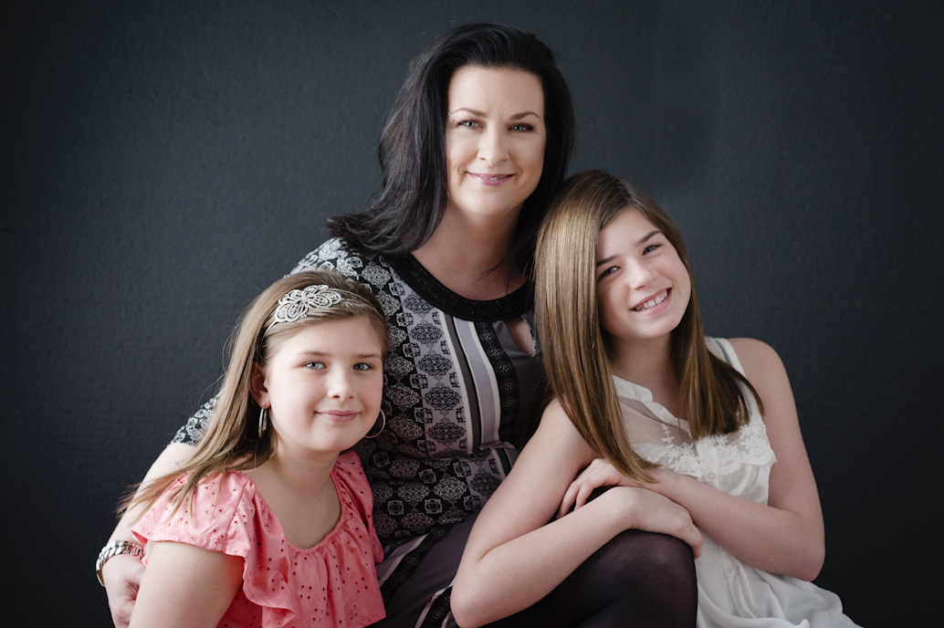 Mother daughter studio portrait photo shoot