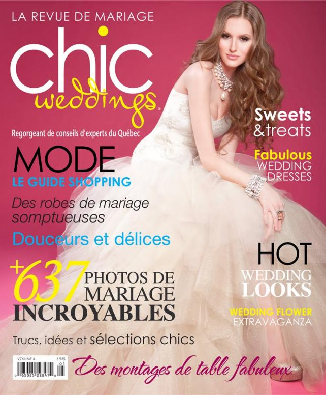 Abelle photographie is featured in Mariage Chic magazine