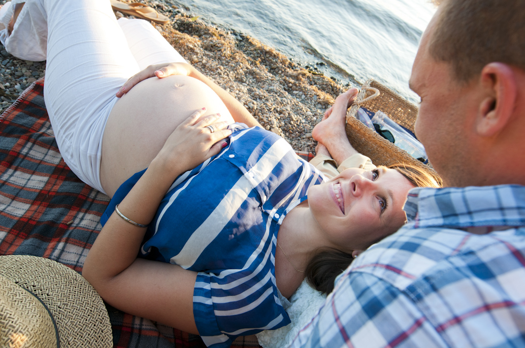 Couple enjoys some downtime while waiting for baby