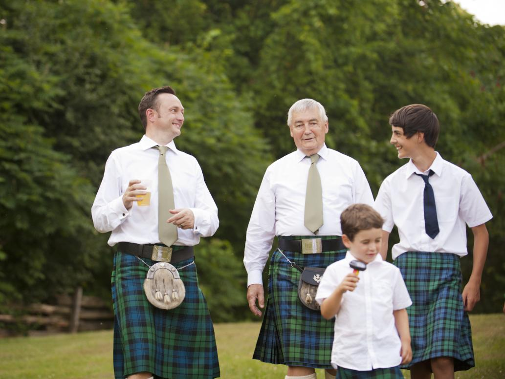 Groom and family portrait session